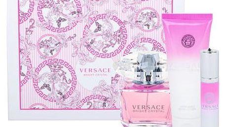 Versace Bright Crystal EDT dárková sada W - EDT 90 ml + tělové mléko 100 ml + EDT 10 ml