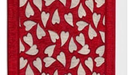 Červený vysoce odolný kuchyňský koberec Webtappeti Corazon Rosso,55x280cm - doprava zdarma!