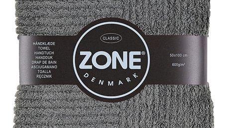 Šedý ručník Zone,100x50cm