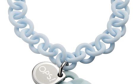 Ops! Objects modrý náramek Matelassé Crystal