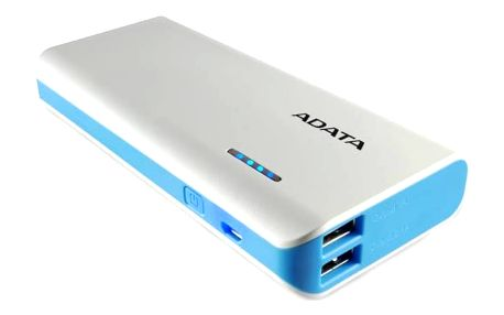 Power Bank A-Data PT100 10000mAh (APT100-10000M-5V-CWHBL) bílá/modrá