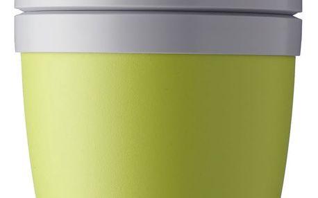 Limetkově zelený svačinový box na jogurt Rosti Mepal Ellipse