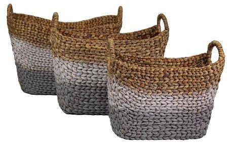 Sada 3 pletených košů z vodního hyacintu HSM Collection Cilly - doprava zdarma!
