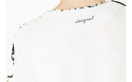 Desigual bílé pánské tričko Juneau s barevnými motivy