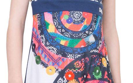 Desigual modro-bílé dívčí šaty Charleston