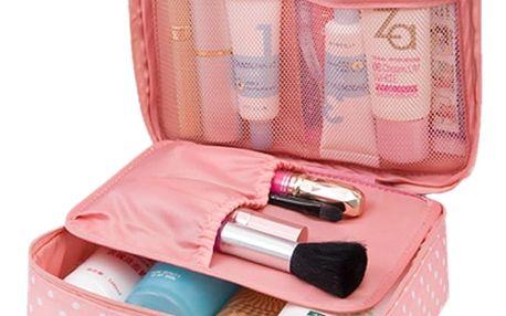 GENATRAVEL Cestovní taška na kosmetiku růžová