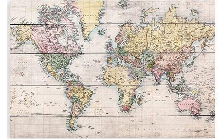 Dřevěná cedule Really Nice Things Worldmap, 40x60cm - doprava zdarma!