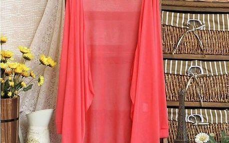 Trendy a lehoučký kardigan - červená