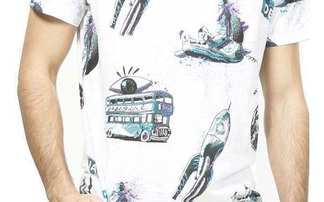 Desigual barevné pánské tričko Sacha