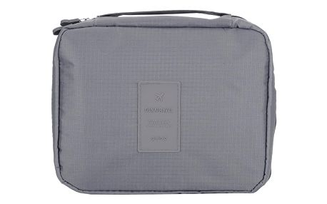 GENATRAVEL Cestovní taška na kosmetiku šedá