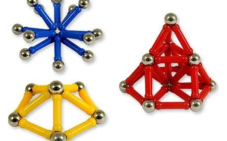 Magnetická stavebnice - 60 dílků