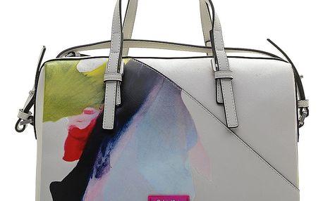 Calvin Klein bílá kabelka M4RISSA Print Duffle
