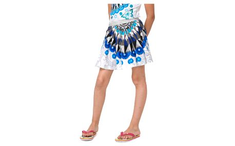 Desigual modro-bílá dívčí sukně Ramio