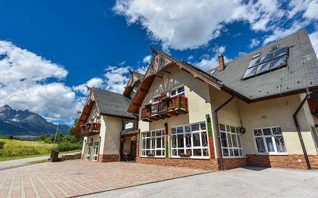 Dovolená v Tatrách v penzionu Lomnický s výhledem na Lomnický štít s polopenzí a vstupem do wellness