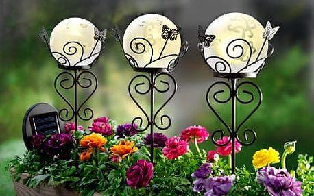 Solární lucerny flora, 3 kusy