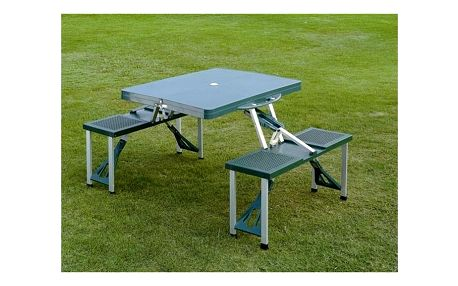 Skládací kempingový picnic set - stůl s lavičkami