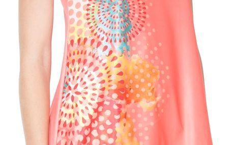 Desigual sportovní oranžové triko CD T-S V Neck P
