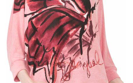 Desigual růžové tričko Mireia