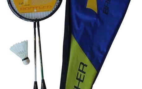 Badmintonová sada 2 rakety + košíčky Brother