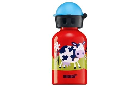 Láhev na pití Sigg dětská Barnyard Fun, 0.3L červená