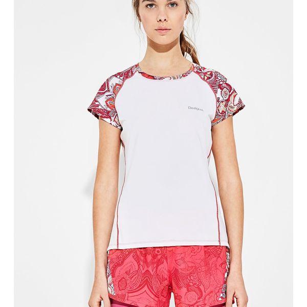 Desigual bílé sportovní triko A T-Short Sleeve P Paisley