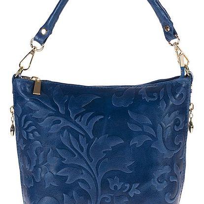 Tmavě modrá kožená kabelka Giulia Bags Misty - doprava zdarma!
