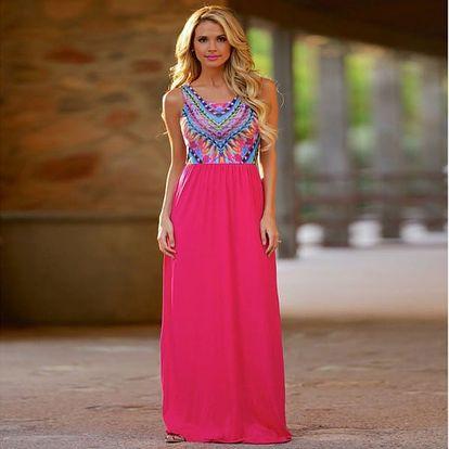 Bohémské maxi šaty - 2 barvy