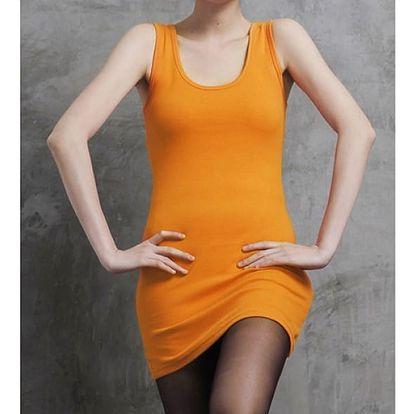 Dámské elegantní šaty oranžové