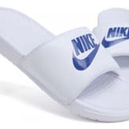 Pánské nazouváky Nike BENASSI JDI 40 WHITE/VARSITY ROYAL-WHITE
