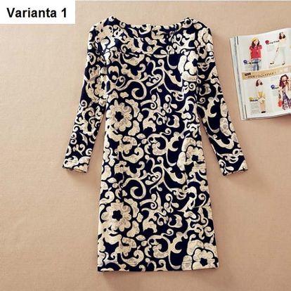 Elegantní dámské šaty s krásnými vzory - varianta 1, velikost 4XL