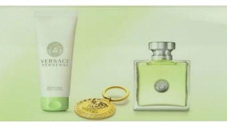 Versace Versense dárková kazeta pro ženy toaletní voda 100 ml + tělové mléko 100 ml + klíčenka