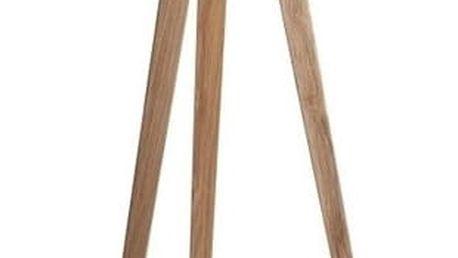 Černá lampa s dřevěnými nohami Tripod wood - doprava zdarma!