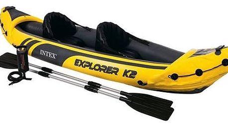 Kajak Intex Explorer K2, 2 místný černý/žlutý