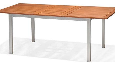 Marimex Obdélníkový stůl hliník/dřevo - 11640231
