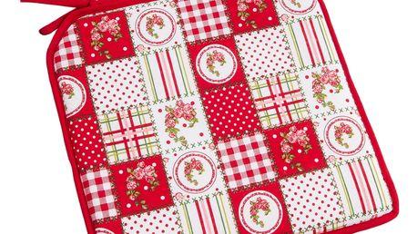 Trade Concept Sedák Elegant patchwork červená, 40 x 40 cm