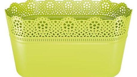 Prosperplast Plastový květináč Lace, limetková