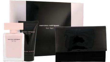 Narciso Rodriguez For Her dárková kazeta pro ženy parfémovaná voda 50 ml + tělový krém 50 ml + kosmetická taška