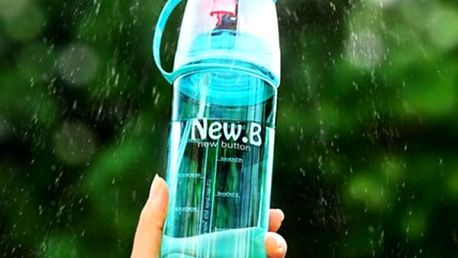 Outdoorová lahev s osvěžujícím rozprašovačem - 3 barvy