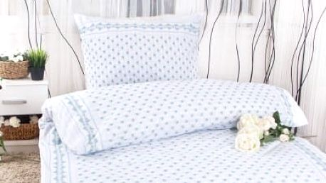 XPOSE ® Prodloužené bavlněné povlečení EMA - modrá 140x220, 70x90