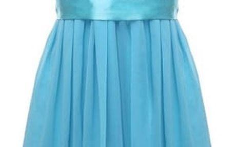Dámské letní šaty s krajkovým topem - Modrá - velikost č. 6