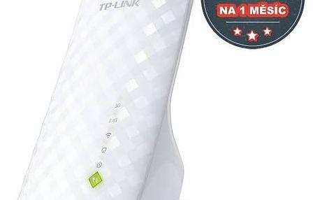 WiFi extender TP-Link RE200 AC750 + IP TV na 1 měsíc ZDARMA (RE200) bílý