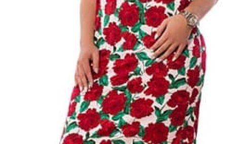 Květované šaty v plus size velikostech - 3 barvy