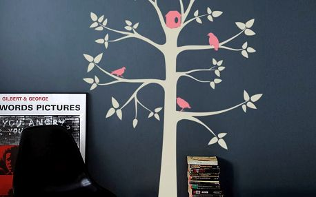 Samolepicí dekorace Šedý pastelový strom