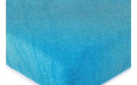 4Home froté prostěradlo tmavě modrá, 180 x 200 cm