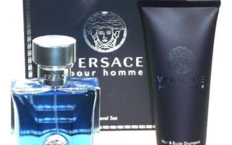 Versace Pour Homme dárková kazeta pro muže toaletní voda 100 ml + sprchový gel 100 ml
