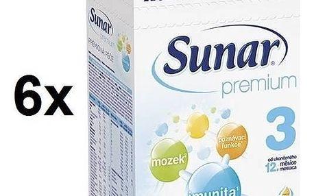 Kojenecké mléko Sunar Premium 3, 600g x 6ks + Doprava zdarma