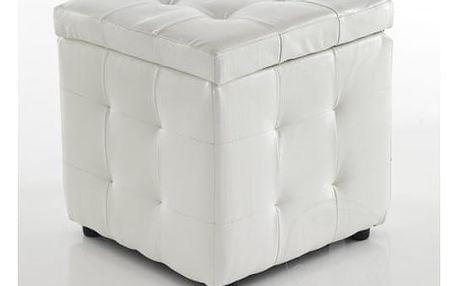Bílý puf s úložným prostorem Tomasucci Dado - doprava zdarma!