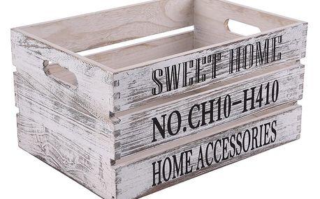 Orion Dřevěná bedýnka Sweet Home, 31 x 21 cm