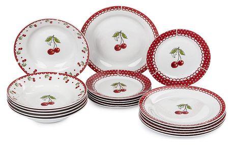 18dílná sada talířů Cherry