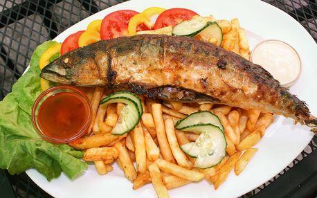 Havířská makrela s hranolky i omáčkou pro 1 či 2